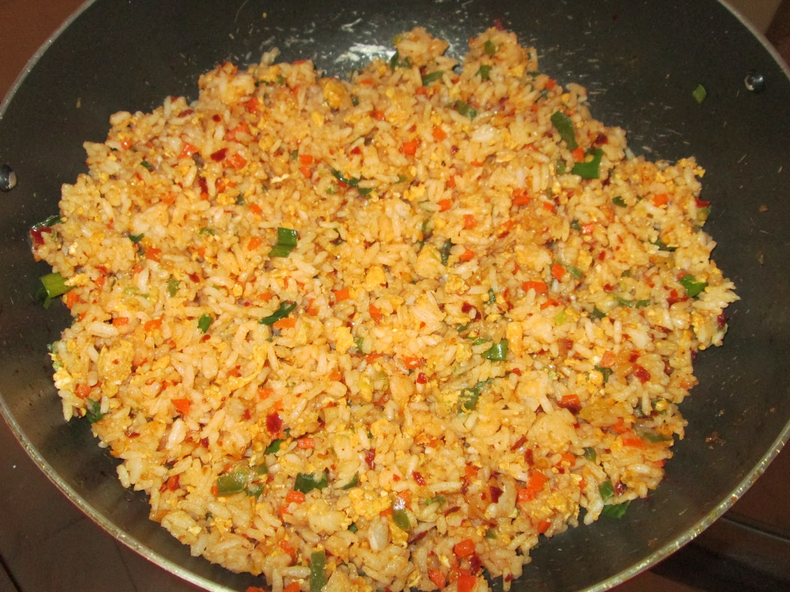 Sowmiya's Diet Kitchen: Schezwan Egg Fried Rice