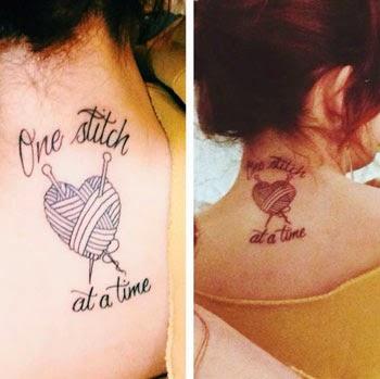 Fotos de tatuagens de coração na nuca feminina