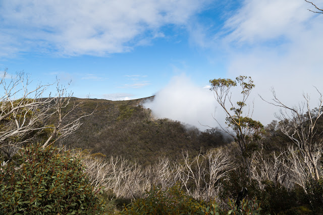 cloud over cross cut saw alpine national park
