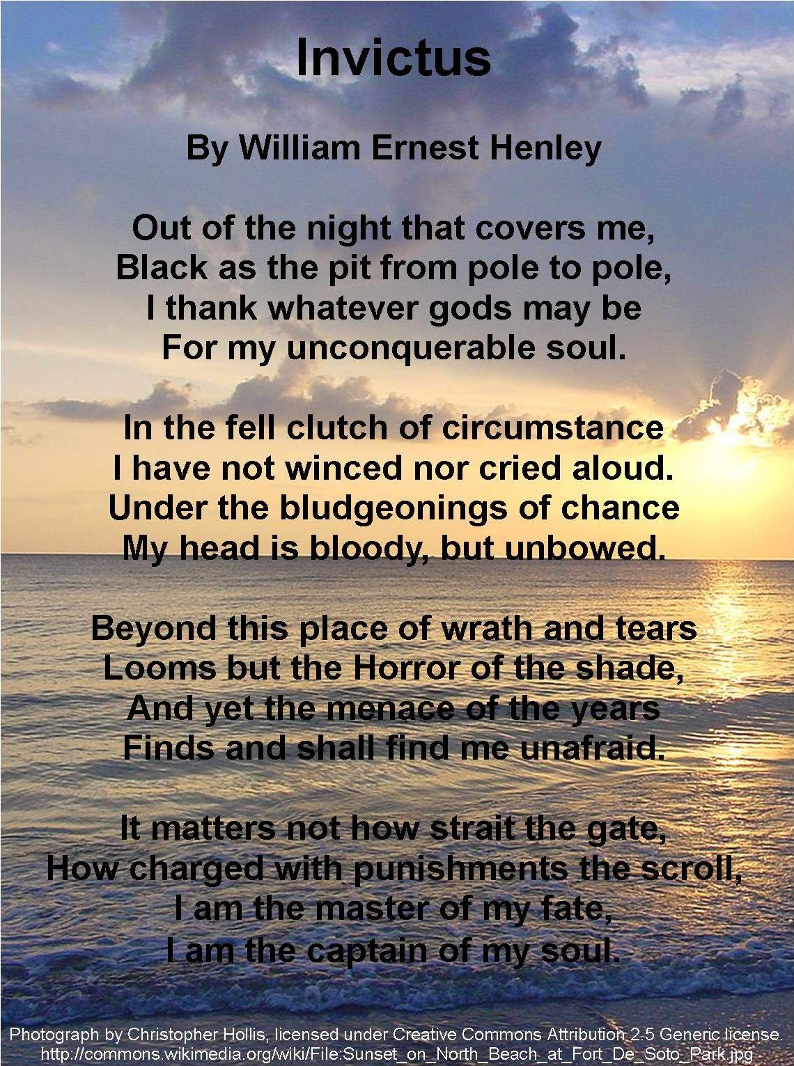 invictus william ernest henley means