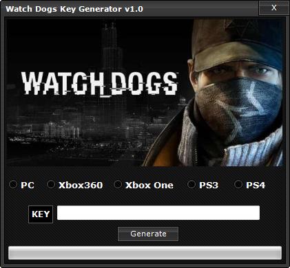 watch dogs key generator download