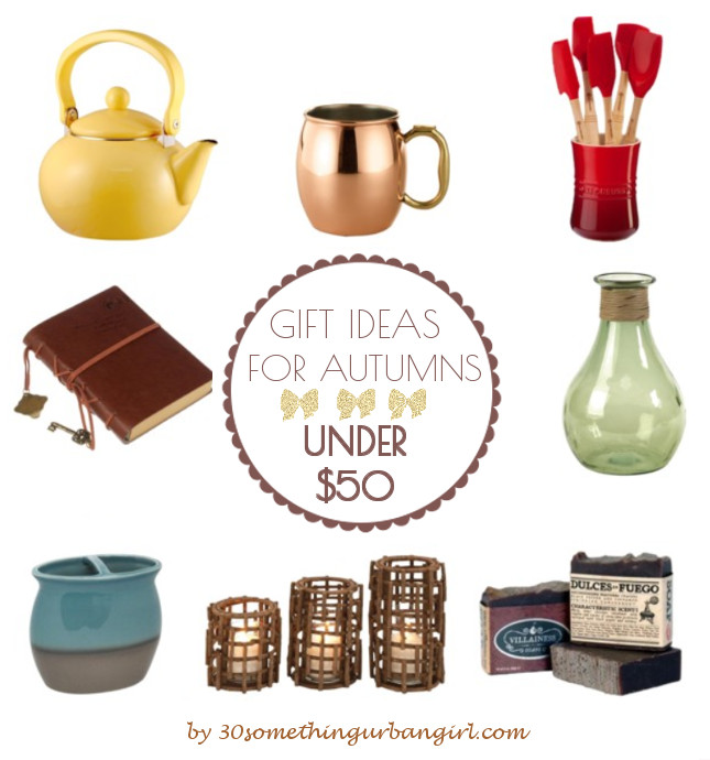 Home decor gift ideas for Autumn seasonal color women under 50USD