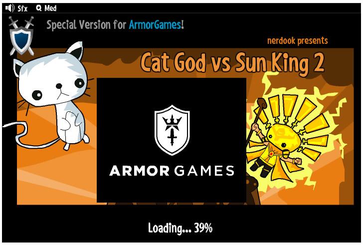 Armor Game : Cat God vs Sun King 2
