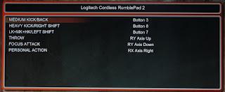 Настройка управления в Super Street Fighter 4 для Logitech Cordless RumblePad 2
