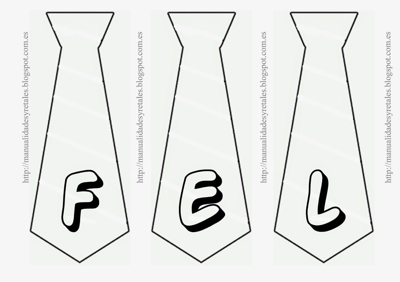 Manualidades y retales guirnalda de corbatas for Guirnaldas para imprimir