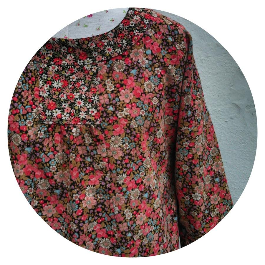 Lisette Portfolio -  a symphony in floral corduroy
