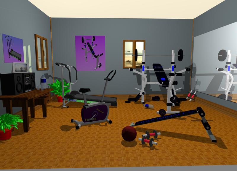 Interiorismo al descubierto disponer de un s tano para montar un gimnasio en casa - Casa con gimnasio ...