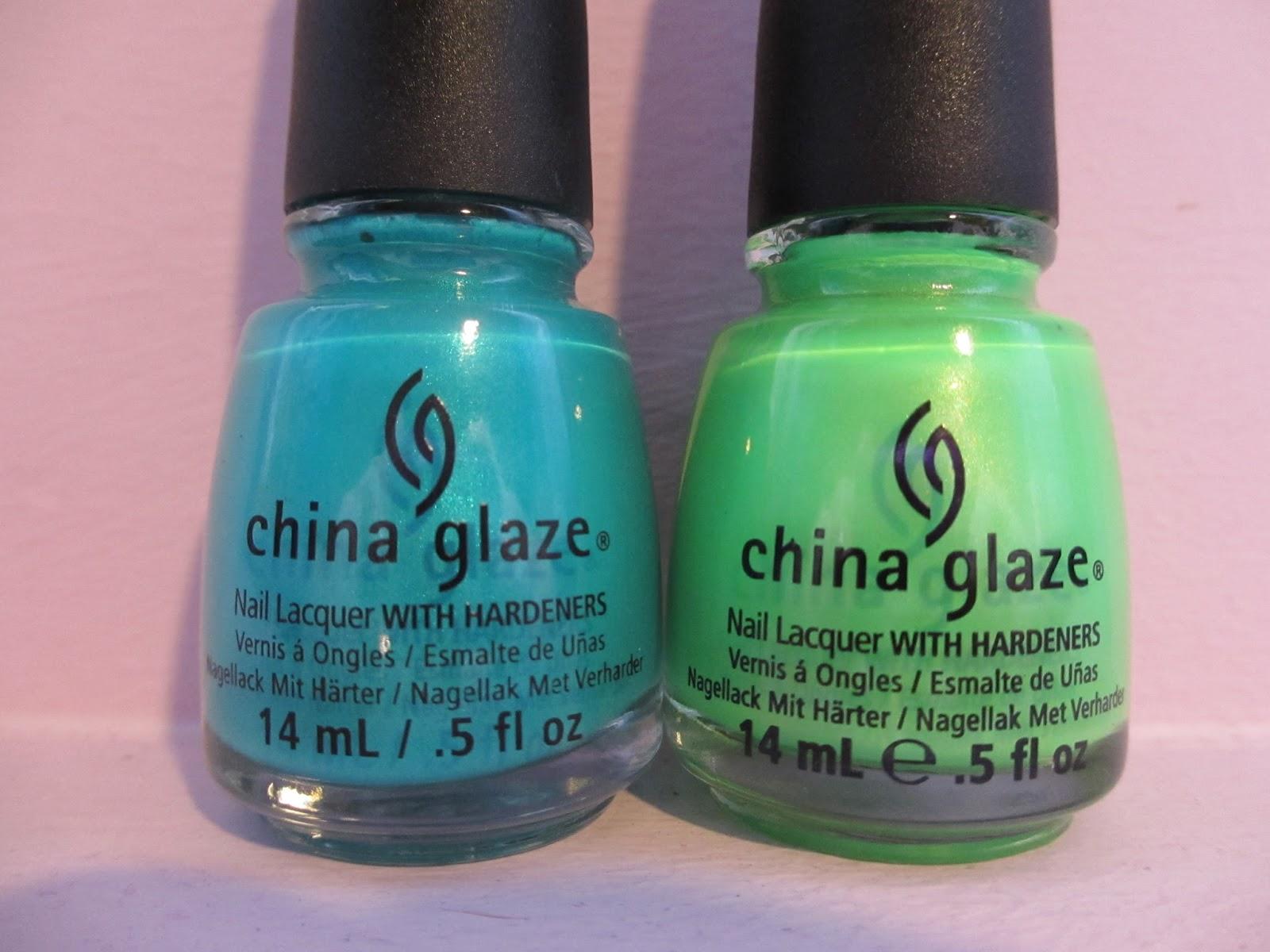 china glaze i'm with the lifeguard turned up turquoise