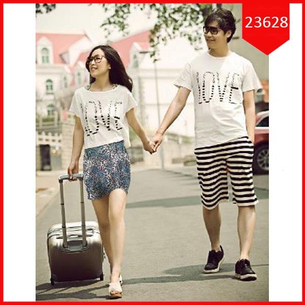 Busana: Dress Couple Setelan Love Leo (BBB-062)