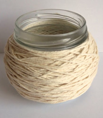 wrap twine around jar