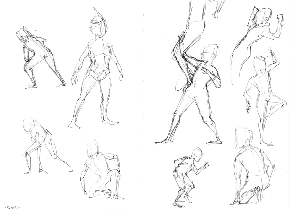jessica u0026 39 s    scatchbook  figure drawings