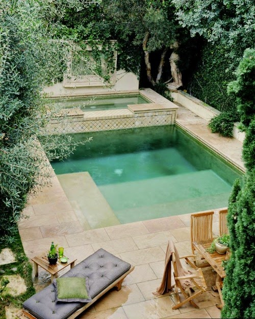 dream home - pool lounging