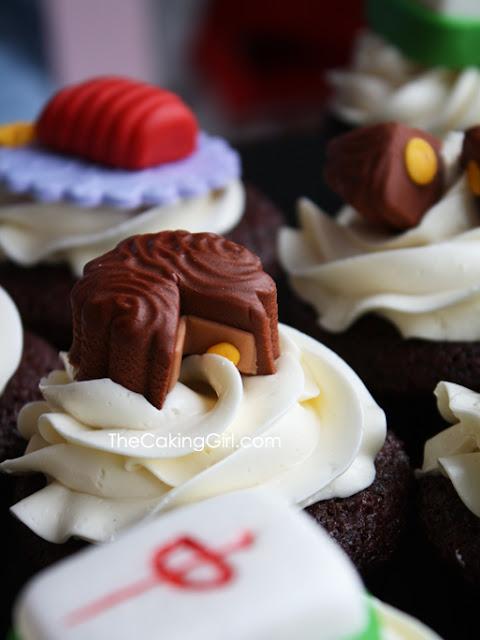 mahjong cupcake