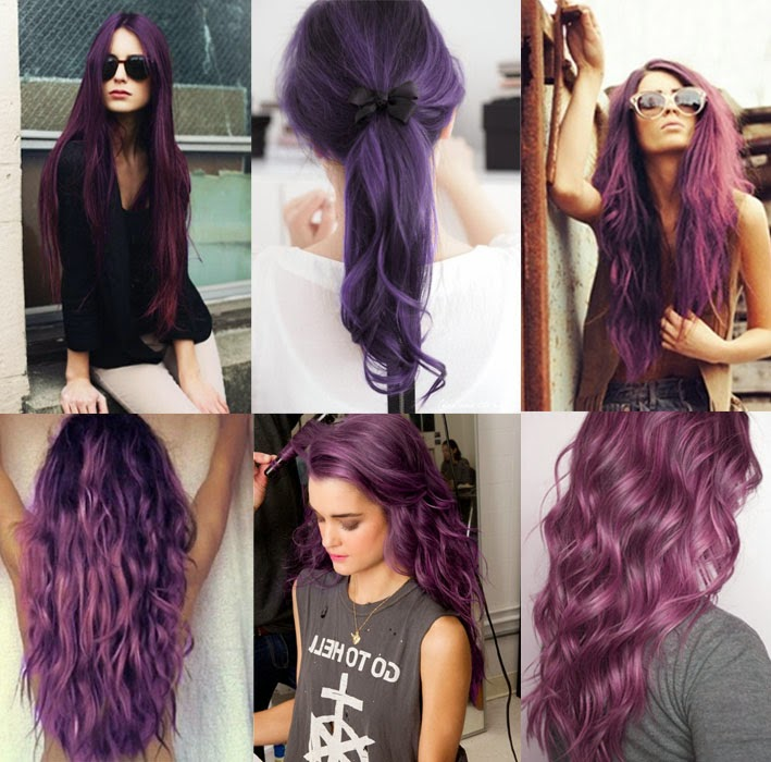 Purple Hair Color Ideas  Shades Of Purple  Hairstyles Hair Cuts Amp Colo