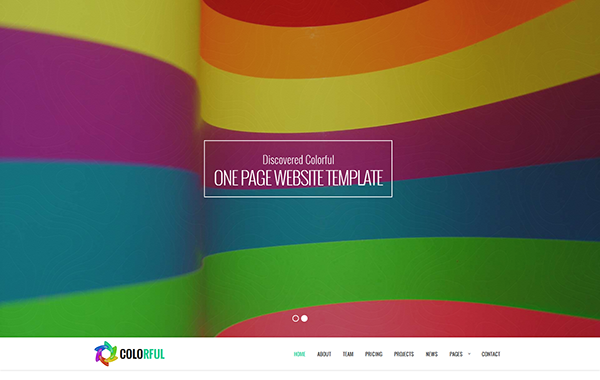 Colorful – One Page Multipurpose Website Template