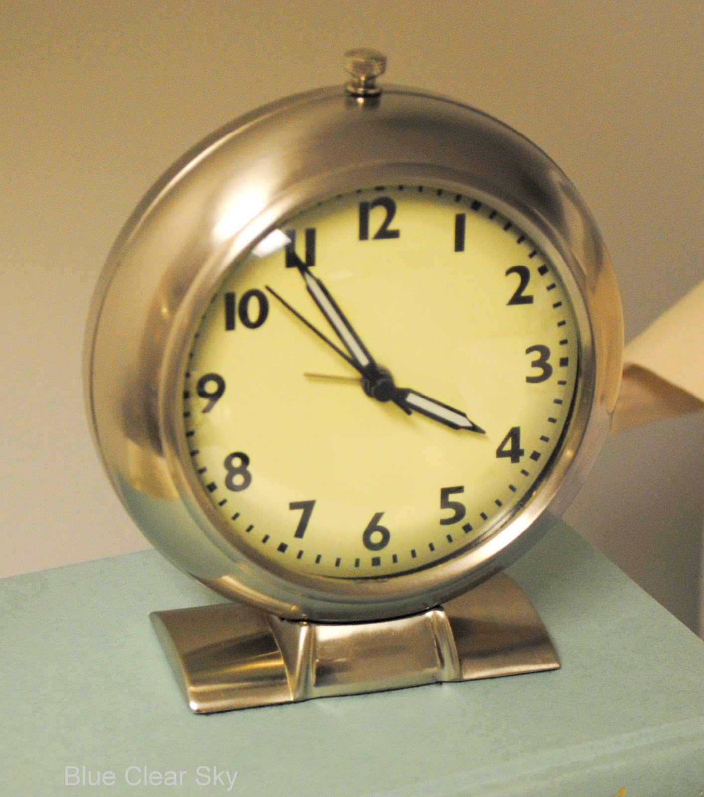 Rustic Maple Vintage Alarm Clock