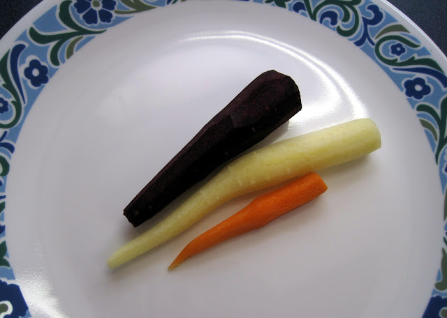 black carrots, white carrots