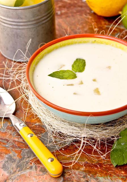 Sopa fría de melón y sandía