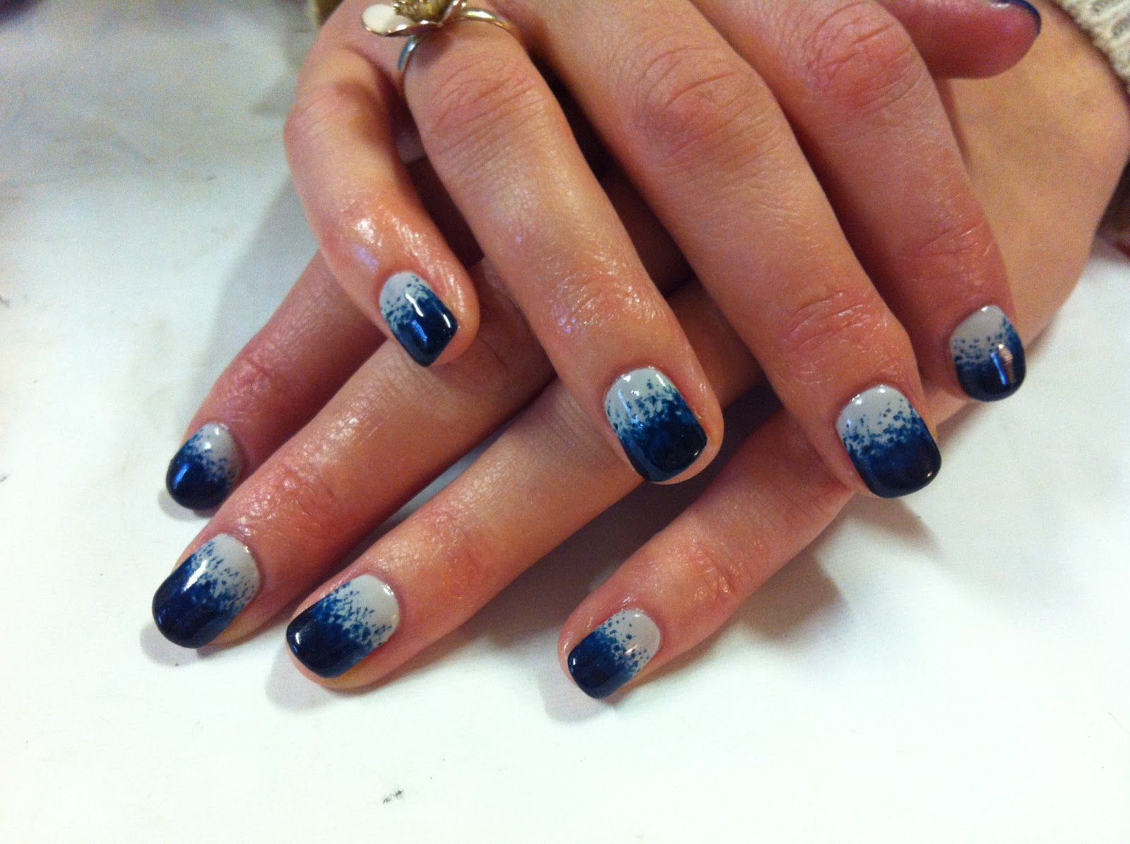 CND Shellac Nail Art   Stippling With .. Brush Up And Polish Up! CND Shellac  Nail Art Stippling With