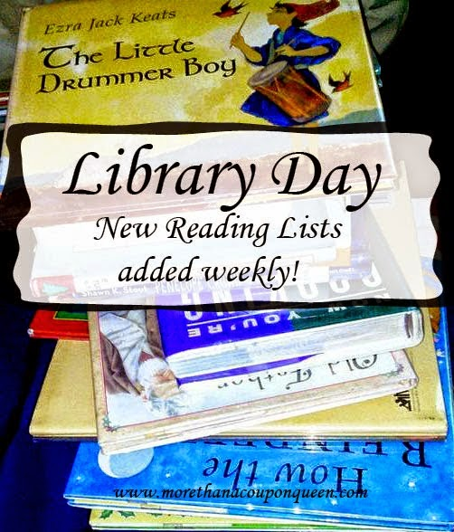 Library Day Week 8 - Tons of great book ideas!