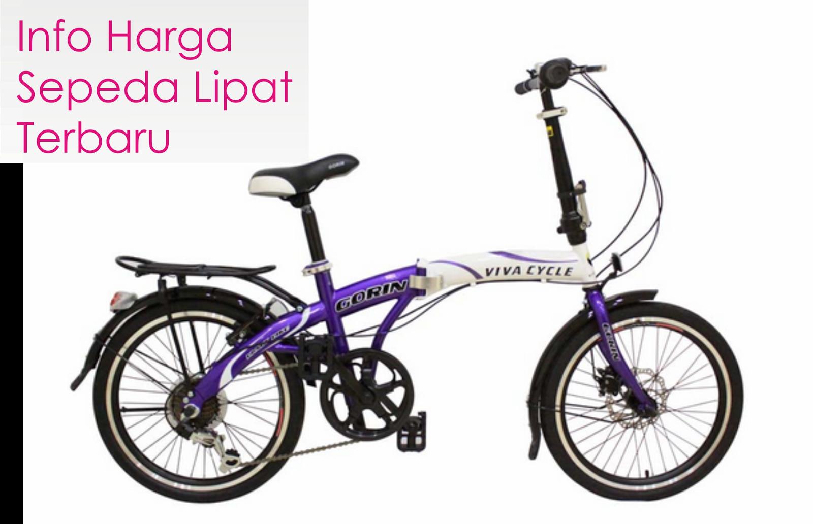 Daftar Harga Sepeda Lipat Delta, Twist, Viva Edisi Terbaru