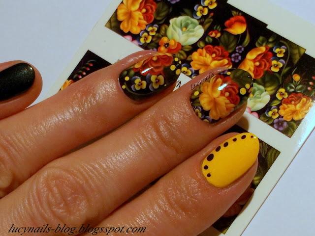 Naklejki na całe paznokcie kwiaty od Blueberry