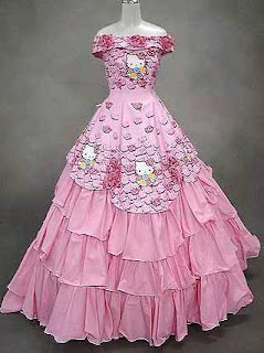 wedding gown hello kitty