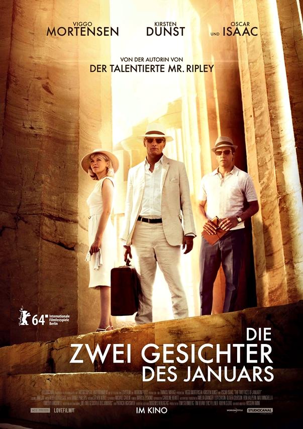 Las dos caras de enero póster alemán