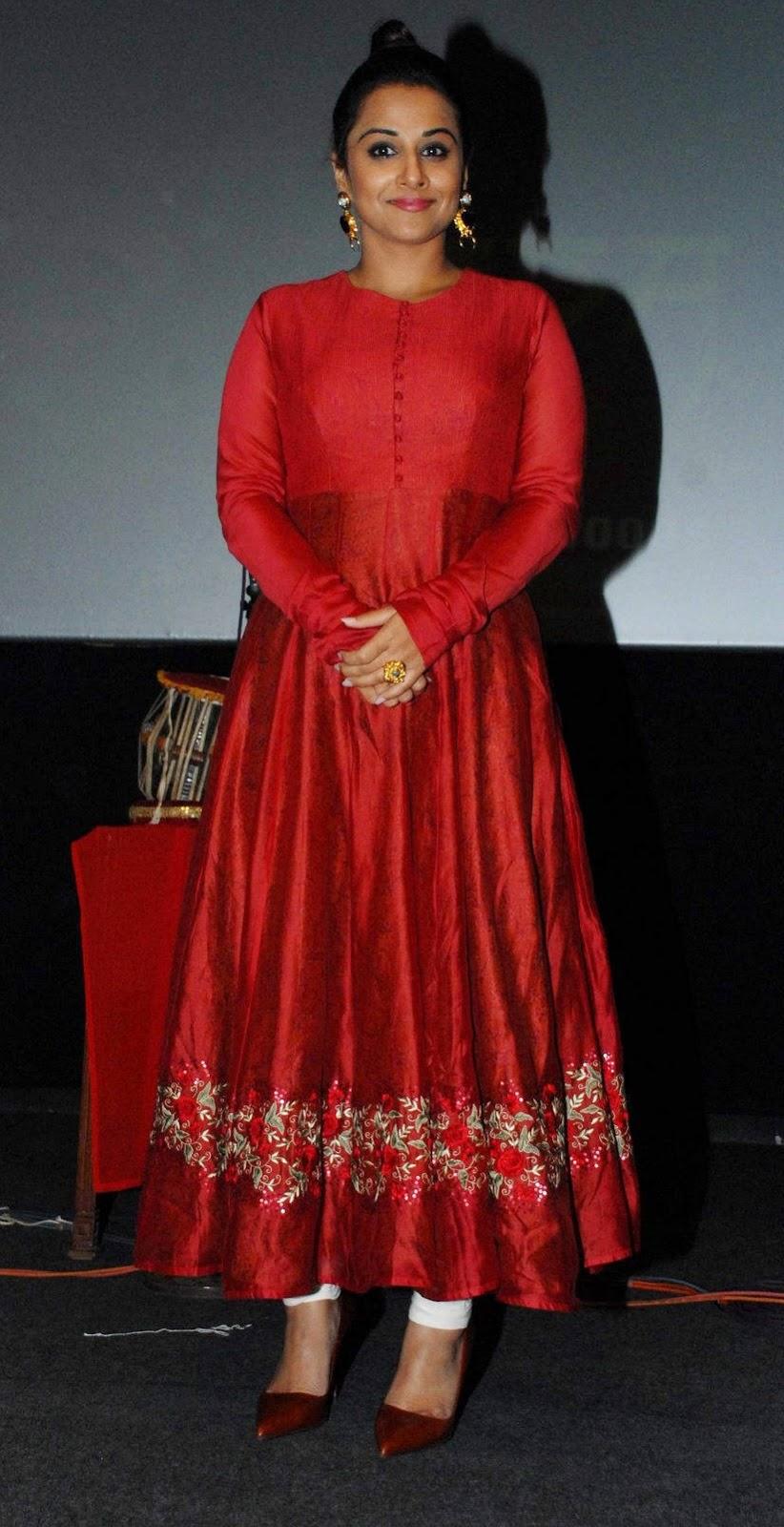 Vidya Balan Gorgeous Photos In Red Dress