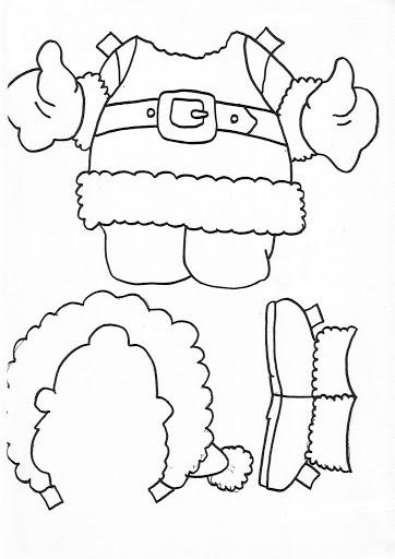 PARA COLOREAR: Dibujos de Navidad para colorear y armar