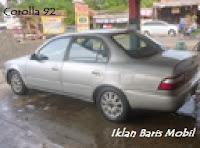 Dijual Toyota great corolla 1992 silver, Iklan baris mobil