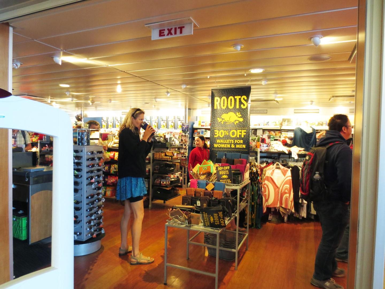 Gift store, BC Ferries