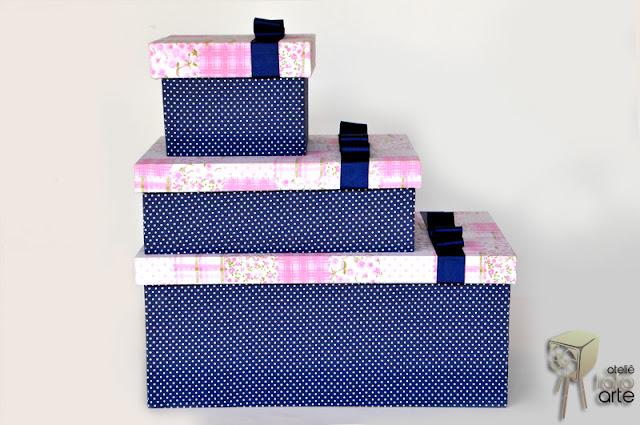 Caixa decorada com tecido