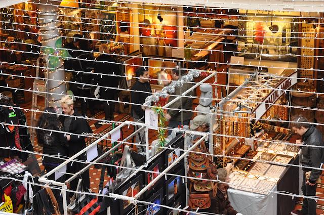 Camden Town Market handicradt stalls
