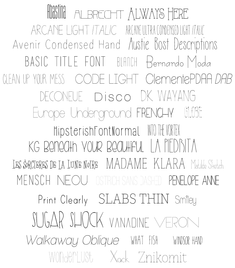 Searching for the best skinny fonts to use with #Silhouette? Look no further! Here is a list of #FREE fonts that look like a single line! | It's Always Ruetten