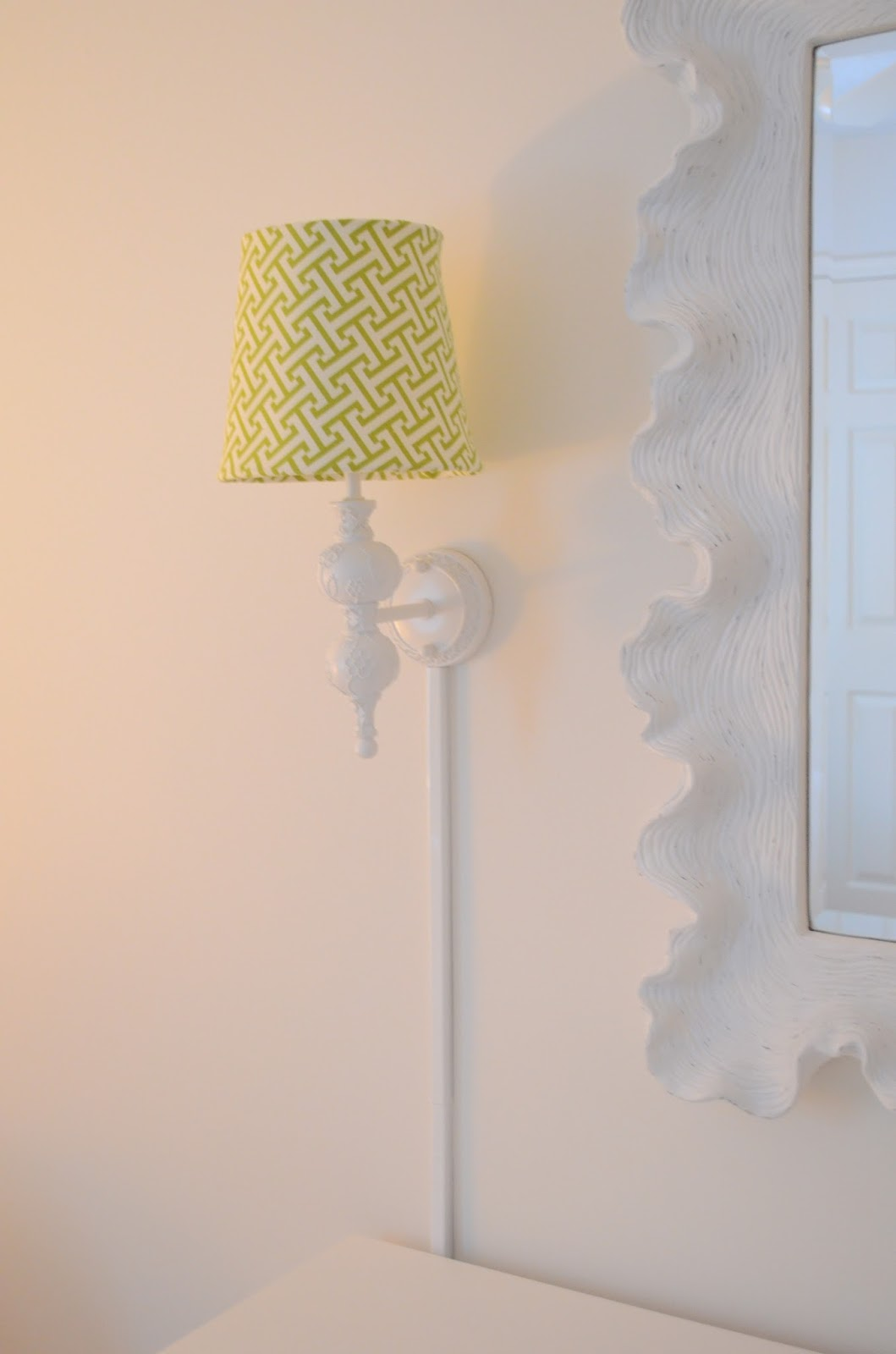 The Houston House: Installed Sconces & Cord Covers