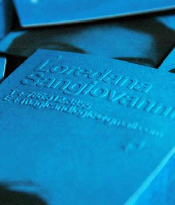 tarjetas de visitas de color azul