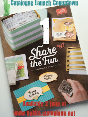 Shop the New Stampin' Up! UK Catalogue here from 2 June!  Yippee!