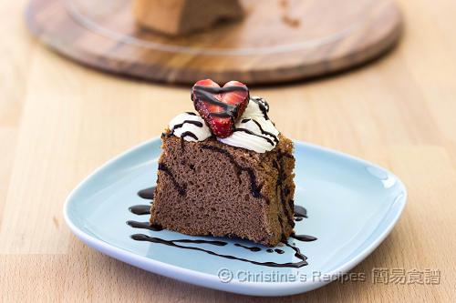 朱古力戚風蛋糕 Chocolate Chiffon Cake02