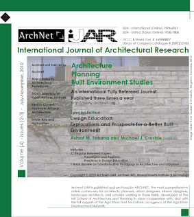 Archnet-IJAR Special Issue on Design Education - 2010
