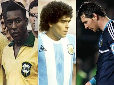 Pelé volvió a atacar a Maradona y a Messi