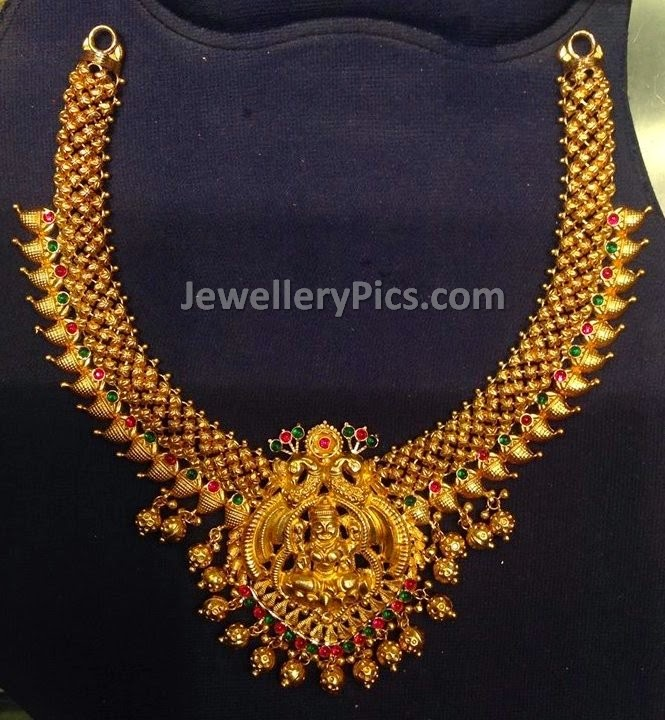 temple jewellery mango malai