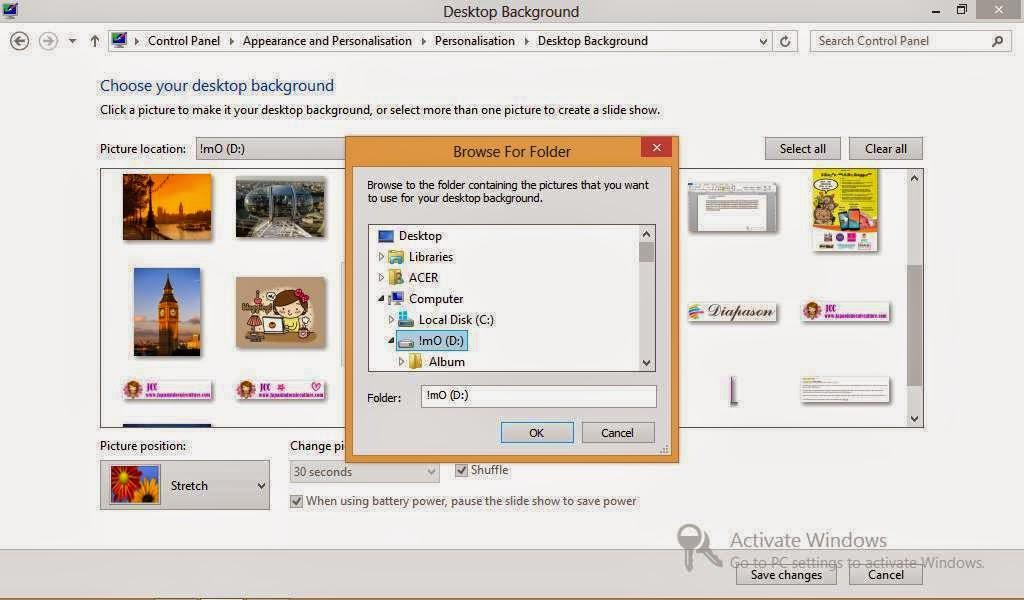 Cara Mengganti Gambar Wallpaper di Windows 8