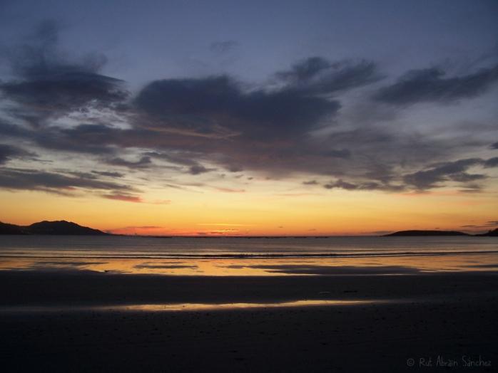 Puesta de sol en Playa América (Nigrán) - Esturirafi - (c)Rut Abrain Sanchez