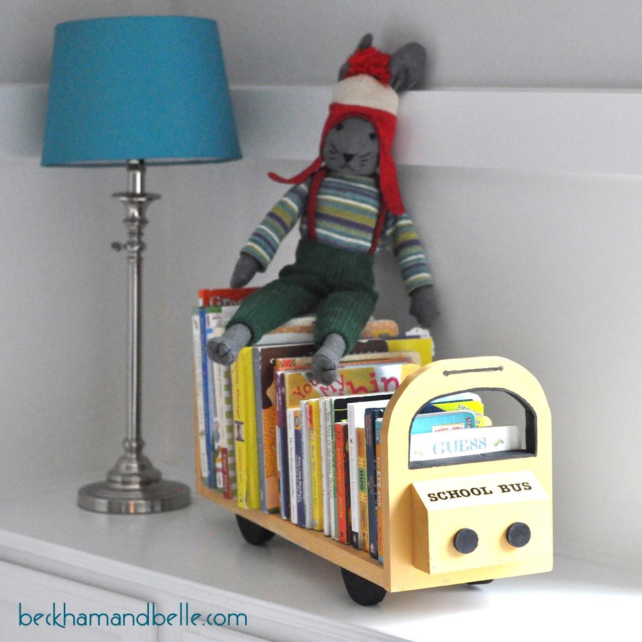 DIY School Bus Bookshelf