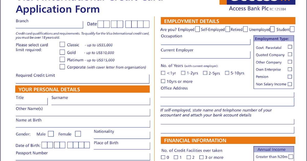Visa Credit Card Application Form In 2013 What News 2 Day