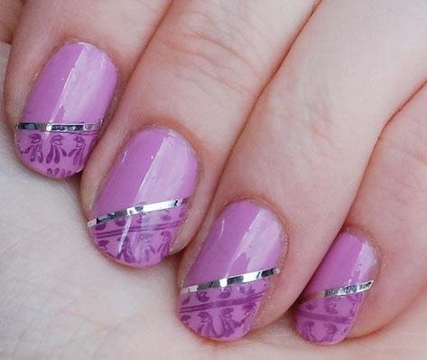 Modelos unhas decoradas com fitinhas