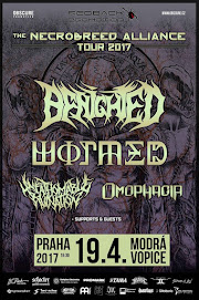 19. 4. 2017 - BENIGHTED / WORMED / UNFATHOMABLE RUINATION/ OMOPHAGIA