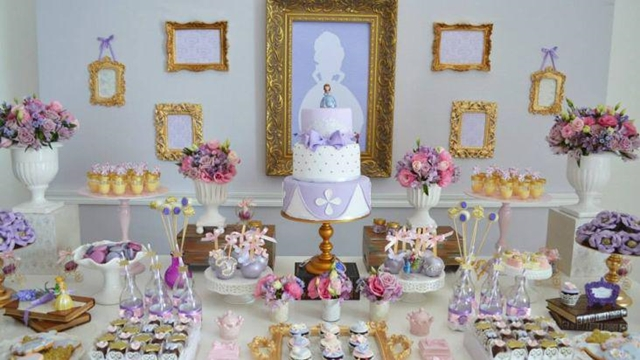 95 Ideias para decoração Festa Princesa Sofia