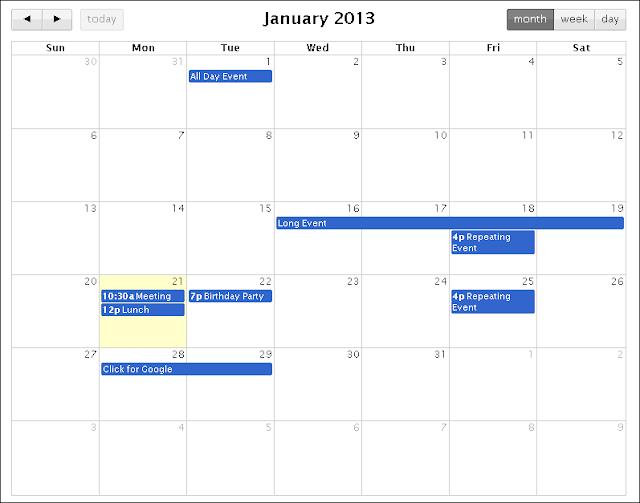 Year Calendar Jquery Plugin : Free jquery full screen calendar plugins by example